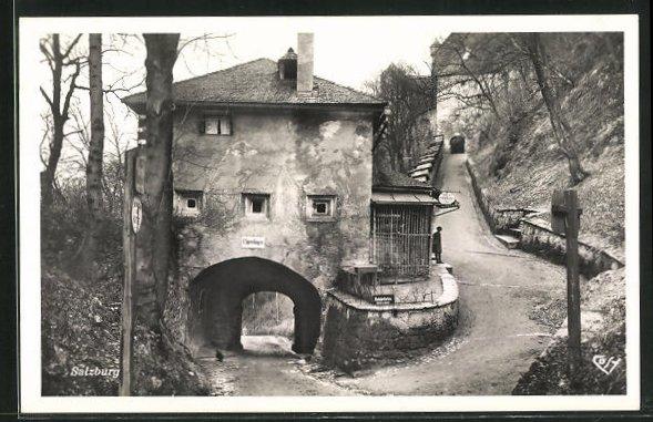 AK Salzburg, Sperrbogen und Aufgang zur Festung 0