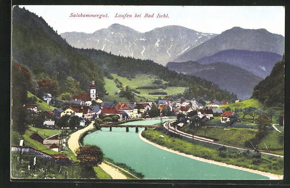 AK Laufen / Salzkammergut, Gesamtansicht 0