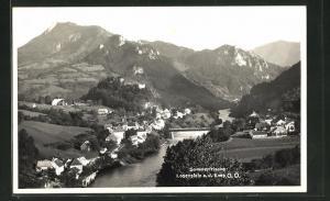 AK Losenstein a. d. Enns, Teilansicht mit Bergen