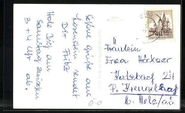 AK Losenstein a. d. Enns, Teilansicht mit Bergen 1