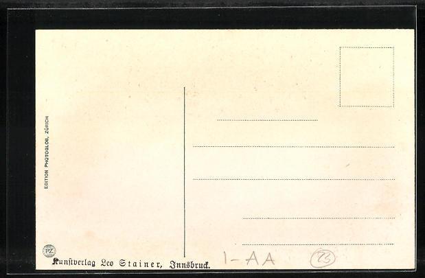AK St. Gertraud-Sulden, Teilansicht mit Bergen 1