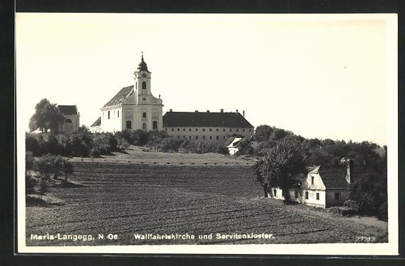 AK Maria-Langegg, Wallfahrtskirche und Servitenkloster 0