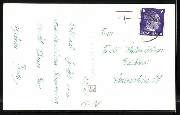 AK Semmering, Sanatorium Vecsei gegen Schneeberg 1