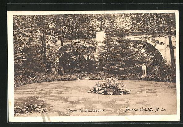 AK Persenburg, Partie im Schlosspark 0