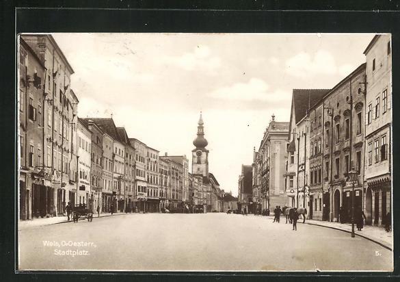 AK Wels, Geschäfte am Stadtplatz 0