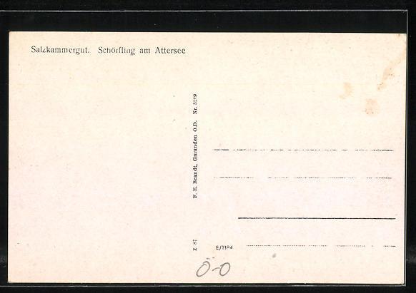 AK Schörfling am Attersee, Gesamtansicht 1