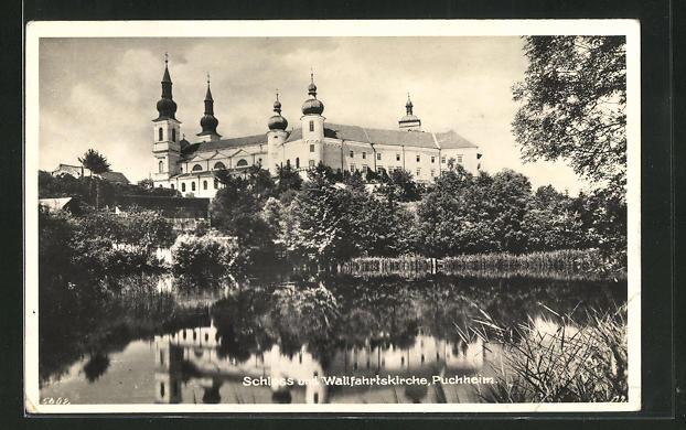 AK Puchheim, Schloss und Wallfahrtskirche 0