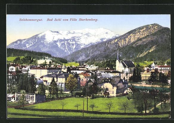 AK Bad Ischl, Gesamtansicht von der Villa Scharhemberg aus gesehen 0