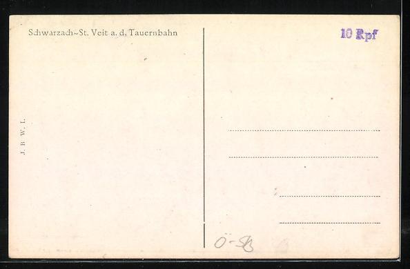 AK Schwarzach-St. Veit a.d. Tauernbahn, Gesamtansicht 1