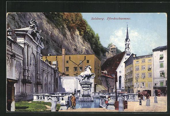 AK Salzburg, Partie an der Pferdeschwemme 0
