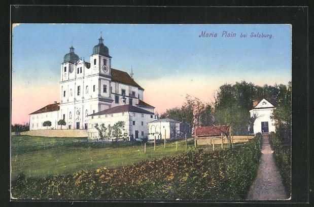 AK Maria Plain, Blick zur Kirche 0