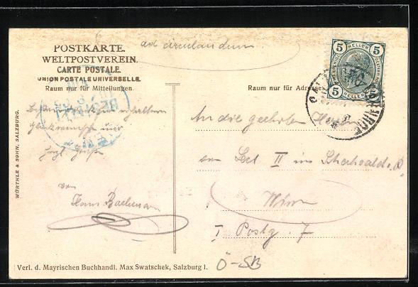 AK Salzburg, Stift St. Peter, Ein Heller und ein Batzen, die waren beide mein... 1