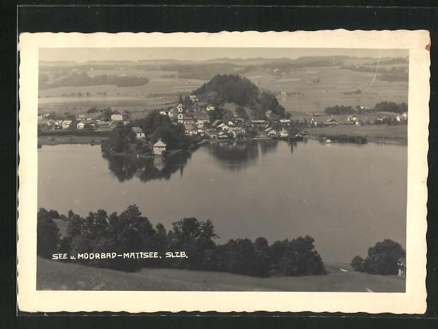 AK Mattsee, Panoramablick auf das Dorf 0