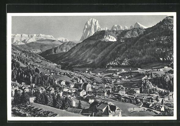 AK Ortisei / St. Ulrich, Grandioses Panorama mit Langkofel-Gröden-Dolomiten 0