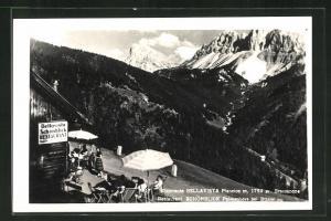 AK Brixen, Restaurant Schönblick Palmschoss, grandiose Aussicht auf die Alpen
