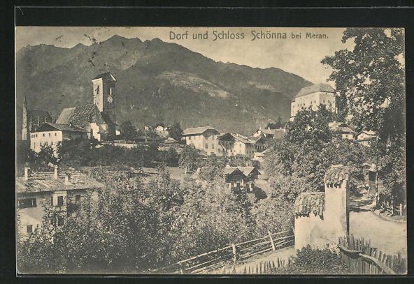 AK Schönna, Blick auf Dorf und Schloss 0