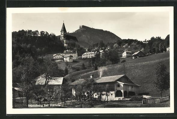 AK Dürrnberg, Teilansicht mit Kirche 0