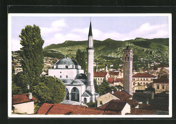 AK Sarajewo, Begova-Moschee im Stadtbild 0