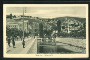 AK Sarajewo, Strassenpartie am Rathaus
