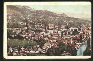 AK Sarajewo, Panoramablick auf die Stadt