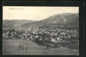 AK Sarajewo, Blick von Westen auf die Stadt