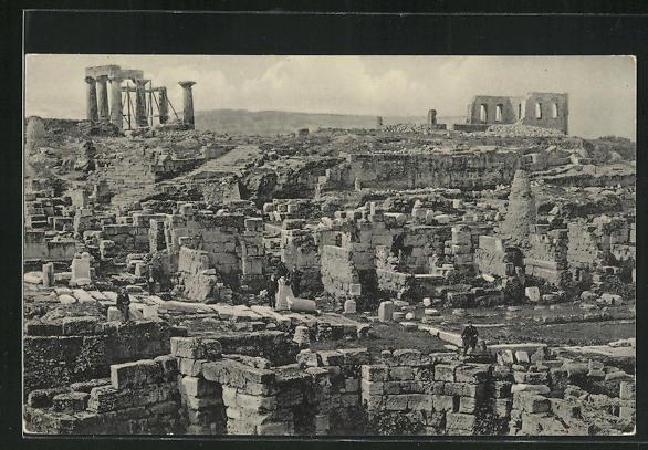 AK Corinthe, Vue générale des Antiquités de vieux Corinthe 0