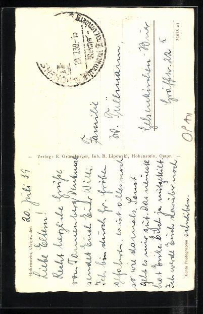 AK Hohenstein, Reichsehrenmal Tannenberg, Haupttor 1