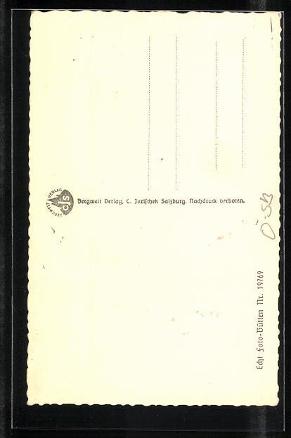 AK Abtenau, Ortsansicht g. d. Trattberg 1