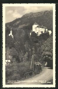AK Obervellach im Mölltale / Tauernbahn, Burg Groppenstein