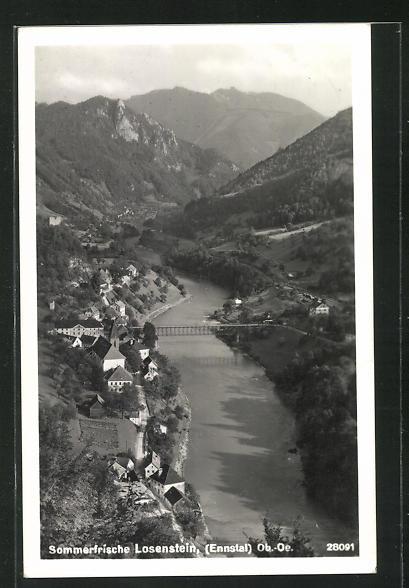 AK Losenstein im Ennstal, Teilansicht mit Brücke 0