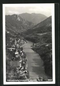 AK Losenstein im Ennstal, Teilansicht mit Brücke