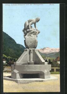 AK Bozen, König Laurins-Brunnen und der Rosengarten
