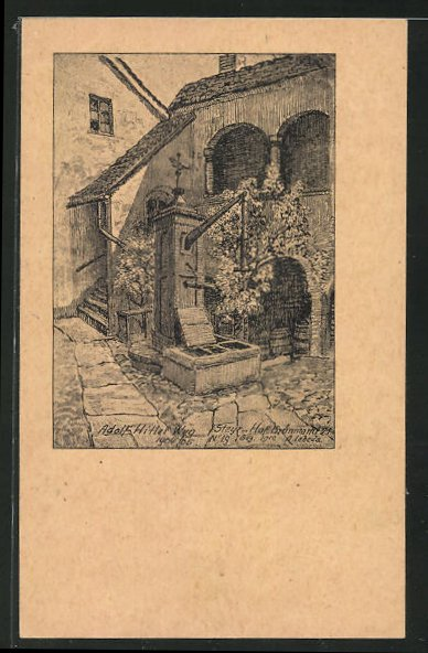 Künstler-AK Steyr, Kammerhofer-Hof, Haus von  1905-05 0