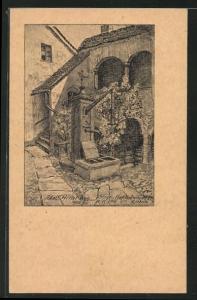 Künstler-AK Steyr, Kammerhofer-Hof, Haus von  1905-05
