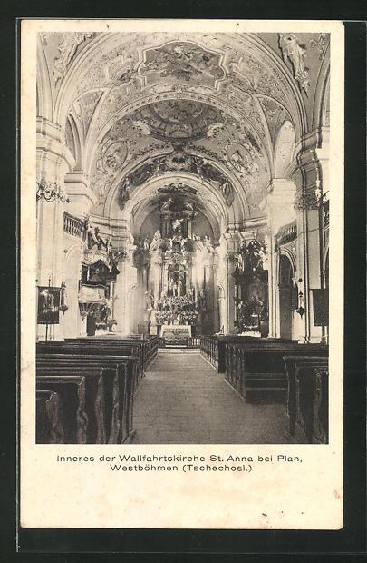 AK Plan / Westbömen, Inneres der Wallfahrtskirche St. Anne 0