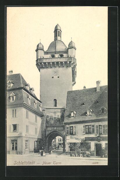 AK Schlettstadt, Neuer Turm 0
