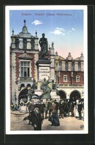 AK Krakow, Pomnik Adama Mickiewicza