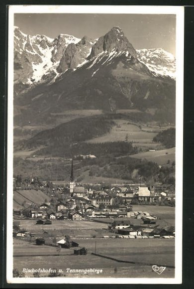 AK Bischofshofen, Panorama m. Tennengebirge 0