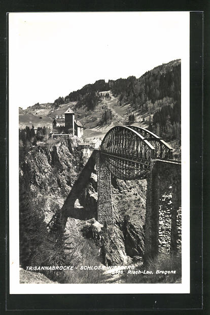 AK Wiesberg, Trisannabrücke und Schloss Wiesberg 0