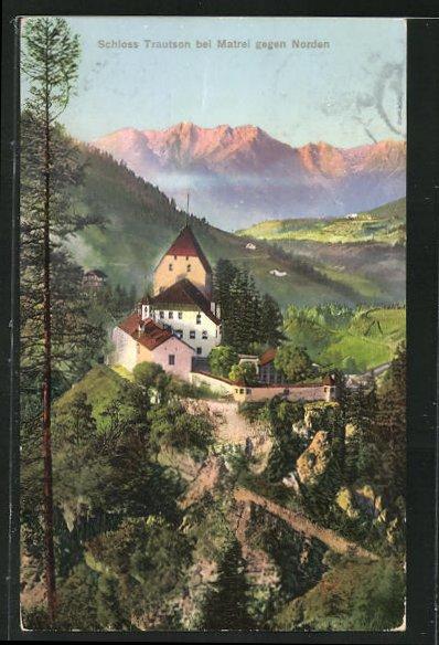 AK Matrei, Schloss Trautson gegen Norden 0