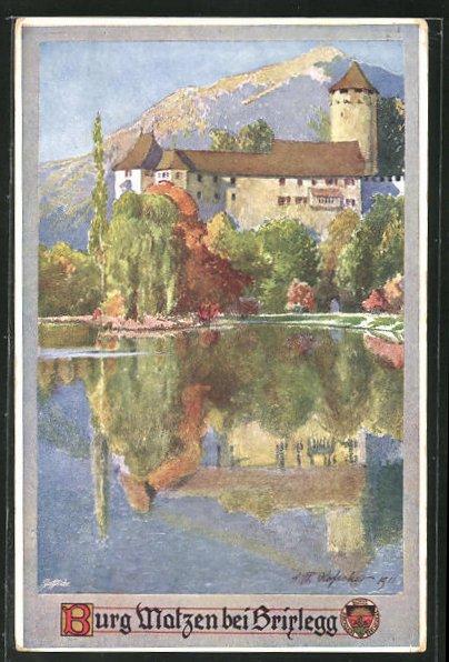 AK Brirlegg, Burg Matzen mit Teich 0