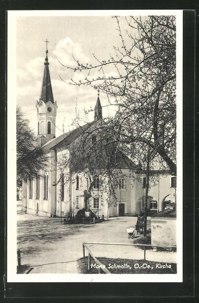 AK Maria Schmoll, Blickauf die Abside der Kirche 0