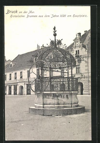AK Bruck a.d.Mur, Historischer Brunnen aus dem Jahre 1626 am Hauptplatz 0