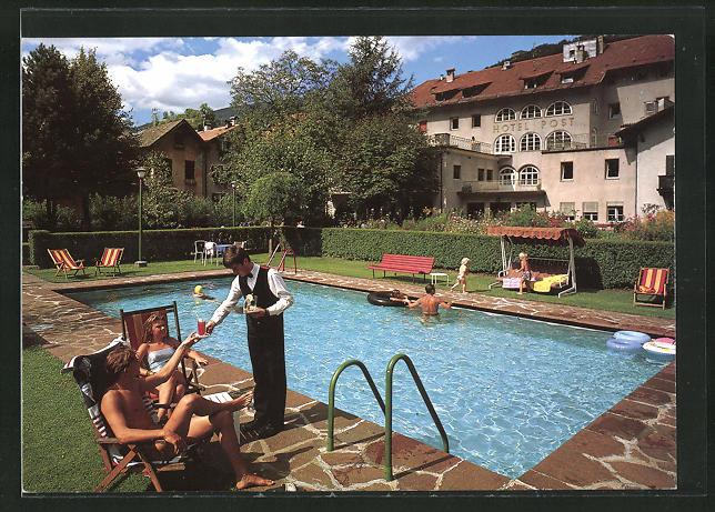 AK Klausen, Hotel Post, Leute am Pool 0