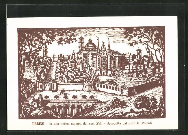 AK Urbino, da una antica stampa del sec. XVII, histor. Ansicht 0