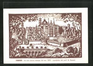 AK Urbino, da una antica stampa del sec. XVII, histor. Ansicht