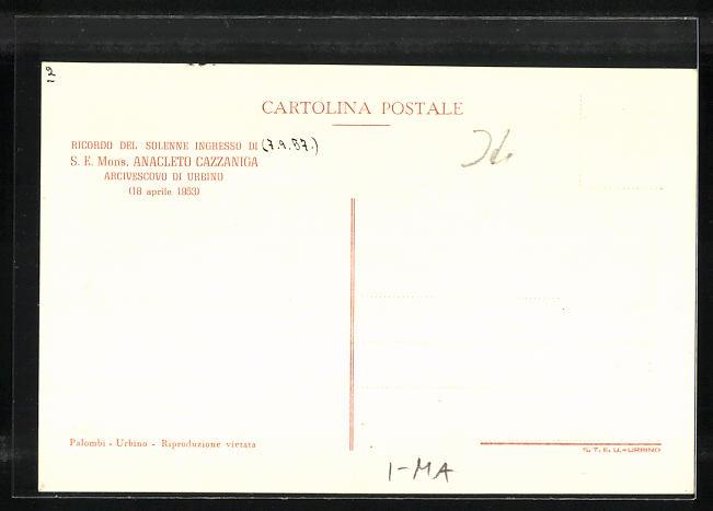 AK Urbino, da una antica stampa del sec. XVII, histor. Ansicht 1