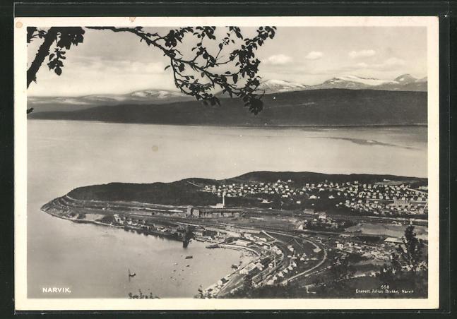 AK Narvik, Ort aus der Vogelschau 0