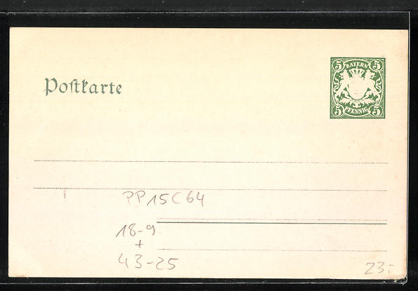 AK Lindau, IX. Bayrisches Saenger-Fest 1904, Ganzsache Bayern PP15 C64 1