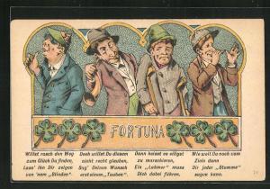 AK Fortuna - Willst rasch den Weg zum Glück Du finden. lass ihn dir zeigen vonnem Blinden...